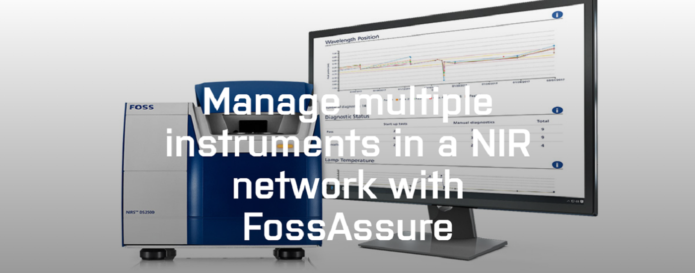 Manage multiple instruments in a NIR network with FossAssure